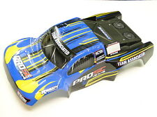 NEW TEAM ASSOCIATED PROSC 4X4/PROLITE Body Blue/Yellow Factory Painted AW5Y