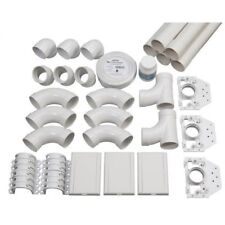 Ducted Vacuum Cleaner DIY Instalation 3 Point Kit Rough-In, Inlets-Elbows-Wir...
