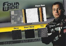 RYAN NEWMAN Press Pass 2009 FOUR WIDE JUMBO ARMY PATCH Quad Relic Card #38/50