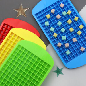 Silicone Mini Ice Cube Tray Candy Chocolate Mould Wax Melt Icing Mold 160 Cells