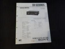 Original Service Manual Sony XR-6690RDS