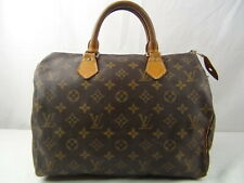 US seller Authentic LOUIS VUITTON MONOGRAM SPEEDY 30 HAND BAG good LV PURSE