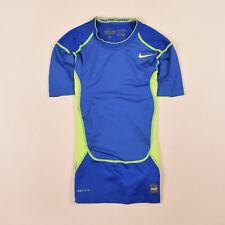 Nike Herren T-Shirt Shirt Classic Gr.M Pro Combat Dri-Fit Blau, 71497