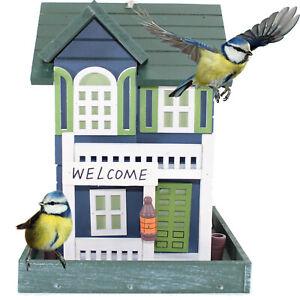 VOGELVILLA WELCOME |  Vogelhaus Vogelvilla Holz Futterhaus Vogel Haus XXL Maise