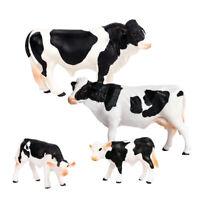 4/set Farm Animal Miniature Female Cow Figures Home Garden Decorations Toy