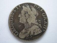1741 GEORGE II SILVER SHILLING - F/GF - UK POST FREE