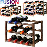 Wooden Wine Rack Tabletop Bottle Holder Storage Stand Champagne Stack 3 & 4 Tier