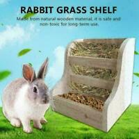 Rabbit Totoro Guinea Pig Hay Wooden Feeder Straw Frame Cage Feeder Nat Pine E9D8