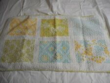 Cynthia Rowley King Size Quilted Pillow Sham Cottage Chic Green Blue Yellow