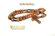 Hand Made Olive Wood Round Beads Rosary from the holy land