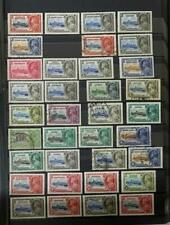 Collection of British Colonies stamps in a stock book, approx 500 stamps *d
