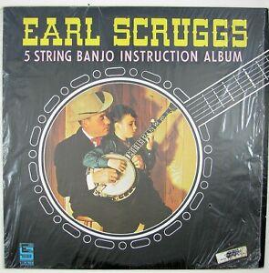 EARL SCRUGGS 5-String Banjo Instruction Album LP 1967 BLUEGRASS NM- NM-