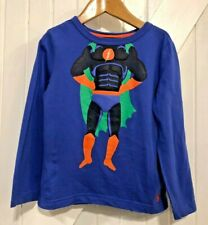 Joules 3 years Top super hero print front & back with  Detail Long Sleeves