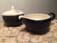 Taylor Smith Taylor Versatile TST 560 Pattern SUGAR BOWL & CREAMER Blue Flower