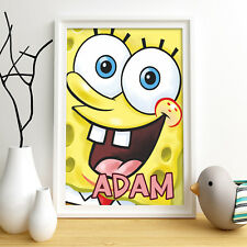 SPONGEBOB SquarePants Personalised Poster A4 Print Wall Art Fast Delivery ✔