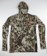 First Lite Men's Fusion Chama Hoody 100% Merino Wool Camouflage Shirt Size SM