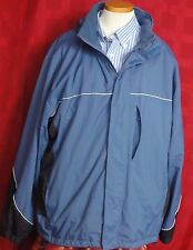 Men's IZOD Golf Extreme Function Golfwear Blue Nylon Hooded Jacket Sz XL