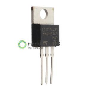 10PCS NEW LD1117 LD1117V33  3.3V 800mA TO-220 Linear Voltage Regulator