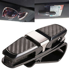 Auto Car Sun Visor Glasses Sunglasses Card Ticket Holder Clip Accessory Black SR