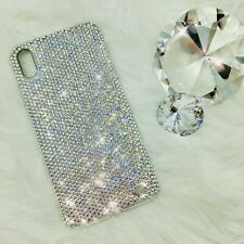 For iPhone X 12ss small CRYSTAL Clear Bling Back Case made w/ Swarovski Crystals