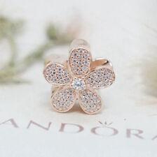 Genuine Pandora Dazzling Daisy Bead Rose Gold and Clear CZ 781480CZ