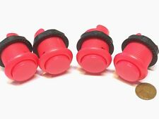 4 Piece Pink Arcade momentary PUSH BUTTON SWITCH DC N/O normally open on/off B28