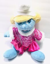 "Build A Bear Smurfette Plush 17"" Smurf Pink With Princess Dress"