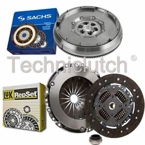 LUK 3 PART CLUTCH KIT AND SACHS DMF FOR PEUGEOT 307 ESTATE 1.6 HDI