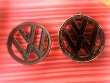 VW 'POLO 2009-2013  Gloss Black Front & Rear badges 1 x Grill Badge 1 x rear