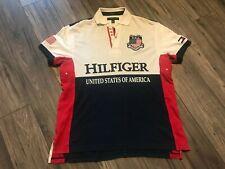 TOMMY HILFIGER USA Logo Polo Shirt #85 shirt Jersey Medium