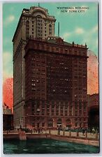 The Whitehall Building in New York City, New York Divided Postcard Unused