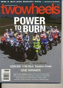 Two Wheels Magazine June 2004 Benelli TNT Yamaha FZ-6NS Suzuki DL650K4 Superbike