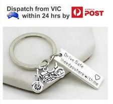 Drive Safe I Need You Here with me Motorbike Couple Lover Keyring Keychain Gift