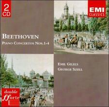 Beethoven Piano Concertos Nos.1-4 - Emil Gilels - George Szell - Brand New 2 CD