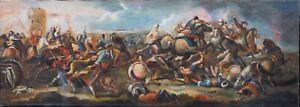 Large 18th Century Italian School Ottoman Turkish Battle War Landscape