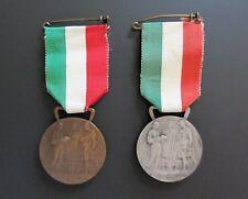 2 Medaglie ISTITUTO GONZAGA MILANO 1948-49 e 1949-50 SCIENTIA - FIDES - LABOR