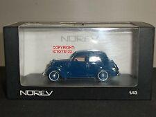NOREV 570801 SIMCA 8 BERLINE BLUE DIECAST MODEL CAR