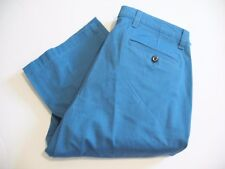 Dockers Mens Stretch Straight Fit Washed Khaki Pants D2 Federal Blue Sz 34x30