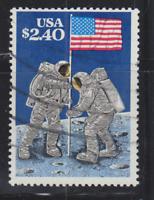 $2.40 Moon Landing  Priority Mail Stamp, USA Scott 2419, Used