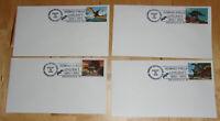 H.P. Lovecraft CENTENNIAL 1890-1990 Dinosaur Cache 4 Envelopes August 20th 1990