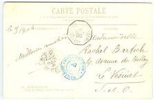 MADAGASCAR: Postcard to France 1906 ship cancellation, arr canc.