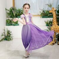 NEW Froze2 ELSA Princess Elsa Fancy Dress Up Cosplay Costume Party Outfit