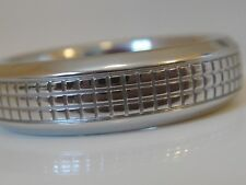 $3600 DAVID YURMAN MENS PLATINUM SKY BAND RING.