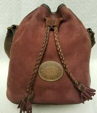 Dooney and Bourke Maroon Suede Bucket Bag