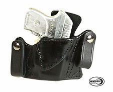 Ruger LCP RED Crimson Trace IWB Dual Snap Holster Right Hand Black