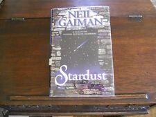 STARDUST, Neil Gaiman, SIGNED w/DRAWING, 1st ed/1st printing US (1999, HCDJ)
