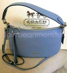 COACH 52548 SUTTON PEBBLE LEATHER HOBO SHOULDER BAG CROSSBODY Slate NEW