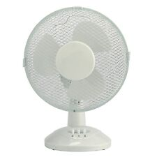 """9"""" Oscillating Desk Fan 9 inch Table Portable Cooling Electric Fan Home Office"""