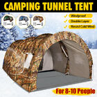 Camouflage US 8-10 Person Camping Tent Double Layers Waterproof Hiking