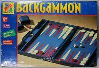 Pavilion Backgammon Board game blue case tournament style travel family new